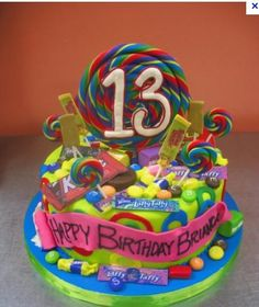 my oldest will be 13 in march this is a good idea for his cake