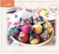 Quilted apple tutorial + pattern in Japanese but simple