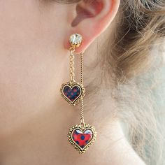 Betsey Johnson Jewelry - Polka Dot Heart Earring