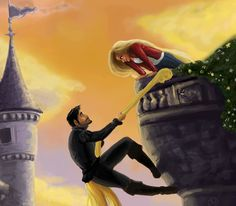 Raiponce / Once upon a time with Emma Swan and Captain Hook haha I like Neil better than hook but this is a cool picture