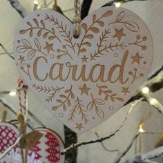 Designed by Megan Tucker and lovingly cut and engraved in Wales these decorations are a quality addition to your home that aren't just for Christmas!