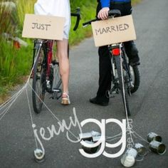 Just Married on a Bike.