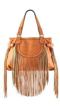 Pauline Fringe Shoulder Bag, Orange