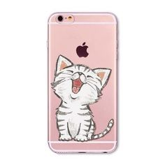 Cute Cats and Other Designs for Apple iPhone 6 6S 5 5S SE 6Plus 6sPlus 5C 4 4S Soft Silicon Transparent Phone Case Cover