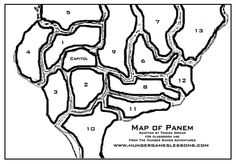 Hunger Games Lessons: Another new map for me based on the Hunger Games Adventures Facebook game; How is Your Map of Panem Shaping Up???
