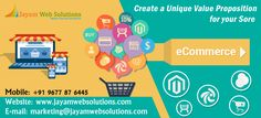 Jayam web solutions is a leading ecommerce development company in Chennai offering complete ecommerce solutions for Online selling businesses http://www.jayamwebsolutions.com/ecommerce-companies-in-chennai.php
