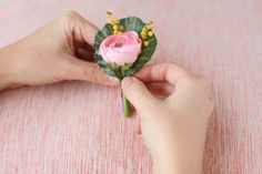 Make this springy boutonniere in 4 easy steps! (Project by Brittni Mehlhoff)