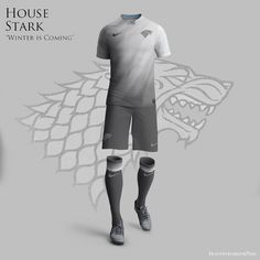 """""""Game of Thrones World Cup Nike Concepts"""" by Nerea Palacios. If the Royal Houses of """"Game of Thrones"""" were soccer clubs they definetly wear this. Nike Soccer, Nike Football, Football Jerseys, Sports Jerseys, Football Stuff, Soccer Kits, Football Kits, World Cup Kits, Nike World"""