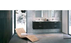 Discover the Home Design by SCHMIDT! Design your kitchen, wardrobe, cupboard or bathroom unit with the specialist in bespoke furniture. Bathroom Vanity Units, Bathroom Furniture, Zen Bathroom, Zen Design, House Design, Design Ideas, Design Your Kitchen, Custom Kitchens, Living Room Storage