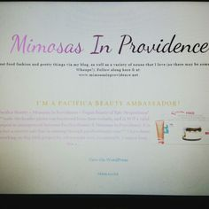 www.mimosasinprovidence.net im a Pacifica Beauty ambassador! Check the blog for details!