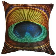 Peacock Feather Cushion Cover - Free Shipping