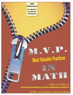 MVP's in Math focus on the Most Valuable Practices- mathematical practices in the Common Core!  18 cubes included to prompt students to discuss and record thinking when problem solving!