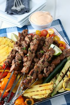 Easily acquired pantry staples combine to create a delicious depth of flavor in this recipe where I show you how to grill chicken kabobs. via @jugglingactmama Grilled Chicken Kabobs, Grilled Fruit, Grilled Chicken Recipes, Grilled Vegetables, Best Grill Recipes, Grilling Recipes, Skewer Recipes, Cooking On The Grill, Family Meals