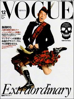 Alexander McQueen on Vogue (Japan?) December 2019 cover