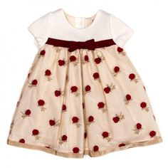 Dress Classic (panna-rosso-boccioli rose)