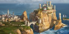 Casterly Rock (House Lannister) by AndrewRyanArt.deviantart.com on @deviantART