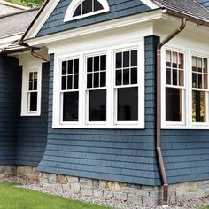 love the stone foundation, the windows, and the color (even the gutters)