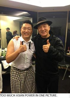 Psy takes a photo with Jackie Chan ~ Latest K-pop News - K-pop News Jackie Chan, Rapper, Asian Hotties, Martial Artist, Bruce Lee, Music Awards, How To Take Photos, Best Funny Pictures, Funny Pics