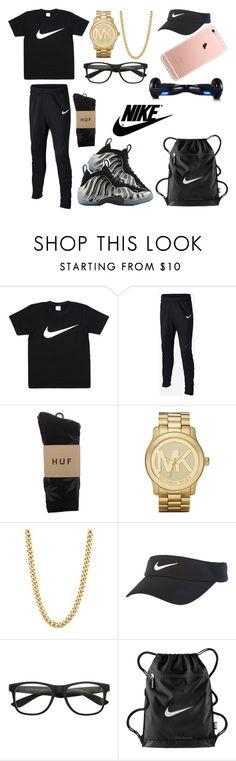 """Untitled #245"" by monstermolly ❤ liked on Polyvore featuring NIKE, HUF, Michael Kors and R2"