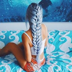 Blue braids by @gabsgetgnarly