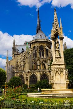 Non-famous views of famous locations. | The back of Notre Dame is more beautiful than the front to me