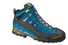 Hyper Mid Gore-Tex: Mid cut leather approach boot created using innovative solutions for the construction of the uppers and sole/midsole system developed exclusively by La Sportiva for the approach category.