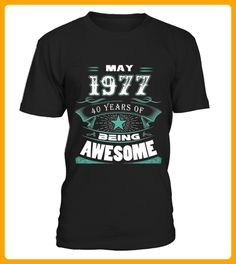 May 1977 40 Years Of Being Awesome N en mai Geboren in may nato a maggio  Nascido em maio - Geburtstag shirts (*Partner-Link)