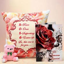 A Good Gift For Girlfriend Cushion Teddy Love Hamper Best