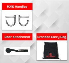 """""""Highlight Features/Reviews"""" WODFitters KX10 Home Gym Handles - Portable Home Gym Workout Equipment for Resistance Bands - Full Body Workout Kit for Home and Travel - KX10 Handle Set (No Bands) #WODFittersKX10 #WODFitters #KX10 #WODFittersKX10HomeGymHandles #HomeGymHandles #PortableHomeGym #HomeGym #KX10HandleSet Exercise Machine, Workout Machines, Portable House, Workout Equipment, Resistance Bands, Carry On Bag, Full Body, Gym Workouts, Highlights"""