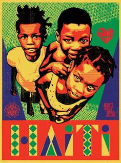 """""""Relief For Haiti"""" Art Print by Shepard Fairey, Cleon Peterson, and Casey Ryder (Onsale Info) - OMG Posters! Poster Art, Screen Print Poster, Poster Prints, Art Prints, Poster Ideas, Art Haïtien, Omg Posters, Obey Art, Haitian Art"""