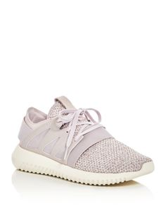 Adidas Womens Tubular Viral Knit Lace Up Sneakers