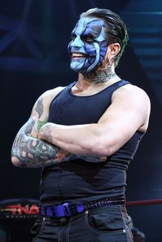 Jeff Hardy Blue Face Paint jeff hardy aka itchweed and willow and