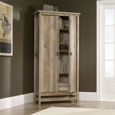 Cannery Bridge Storage Cabinet in Lintel Oak | Nebraska Furniture Mart
