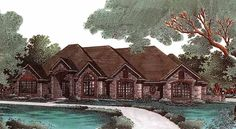 New American House Plan with 2542 Square Feet and 4 Bedrooms(s) from Dream Home Source | House Plan Code DHSW49089