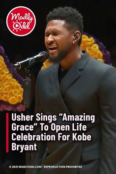 """During the Celebration of the Life of Kobe Bryant, Usher opened the ceremonies by singing a heartrending version of """"Amazing Grace."""" When loss of this magnitude comes along, it's beautiful to see someone pour all their emotions into their song, and speak, in a small way, for all of us. #KobeBryant #Music #AmazingGrace #Tribute #Usher #Bryant #Loss #Gospel"""