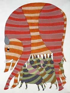 Gond and Bhil Tribal Art: Rajendra Shyam - Some select works Tribal Art, Tribes In India, Gond Painting, Tribal Community, Animal Symbolism, Indian Folk Art, Indian Patterns, Indigenous Art, Writers