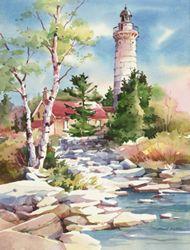 "Original Watercolors by Bridget Austin ""Cana Island, Shore View"""