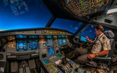 Flight Deck Blue Hour by Karim Nafatni on 500pxth This is being shared by: http://www.snellexperts.com What a beautiful picture.  Wow!
