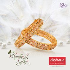 The rare brilliance of natural uncut diamonds brought to life with exquisite workmanship in gold.#gold #akshayagold #bangles #goldbangles