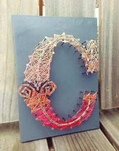 Letter C Typography String Art - Custom Letters