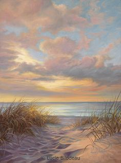 """""""Moment of Tranquility"""", oil on canvas, 16"""" x 12"""", by Lucie Bilodeau.  Available as prints."""