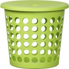 Small Green Perforated Laundry Bin With Lid ($12) ❤ liked on Polyvore