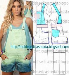Moldes Moda por Medida: MOLDE DE MACACÃO -11