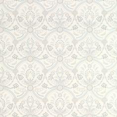 Laura Ashley Almeida Seaspray Blue Patterned Wallpaper