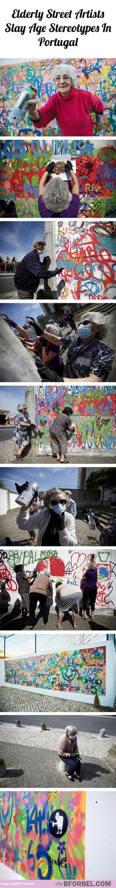 Elderly street artists slay age stereotypes in Portugal
