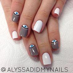 Evil Eye Nails, alyssadidmynails