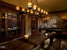 The Enchanted Home: Stellar wine cellars.uncork the possibilities! - Discover home design ideas, furniture, browse photos and plan projects at HG Design Ideas - connecting homeowners with the latest trends in home design & remodeling Wine Tasting Room, Tasting Table, Cellar Inspiration, Writing Inspiration, Home Wine Cellars, Wine Cellar Design, Enchanted Home, Wine Storage, Bars For Home