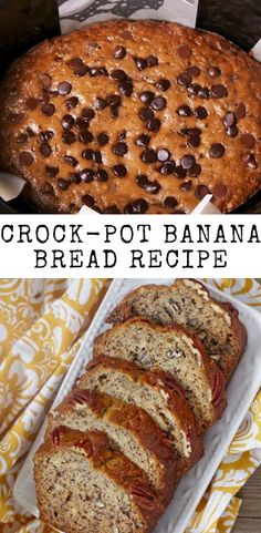 Crock-Pot Banana Bread Recipe Crock-Pot Banana Bread Recipe by delish, Crock-Pot Banana Bread Recipe. it was a big day for us when we realized we could make dessert in our Crock-Po. Get this Perfect Crock Pot Banana Bread Recipe, Crock Pot Bread, Easy Banana Bread, Banana Bread Recipes, Slow Cooker Recipes, Crockpot Recipes, Healthy Bread Recipes, Healthy Foods, Yummy Recipes