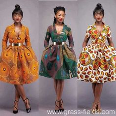 Here at Grass-fields we have an awesome range of African dress designs. Whether you're after an African print maxi or midi dress, we've got something for you. African Print Dresses, African Dresses For Women, African Attire, African Wear, African Fashion Dresses, African Women, African Prints, Ankara Fashion, African Style