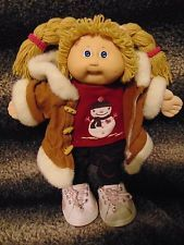 Cabbage Patch Kids 1985 Vintage Girl Doll/Snowman Top/Coat/Pants/Shoes/Free Ship